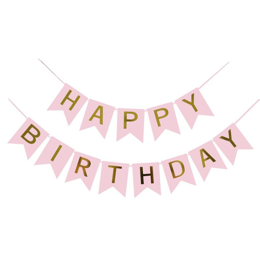 BirthdayFlagPink