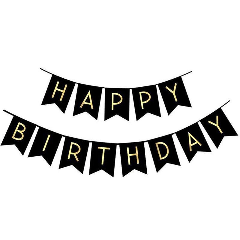 BirthdayFlagBlack