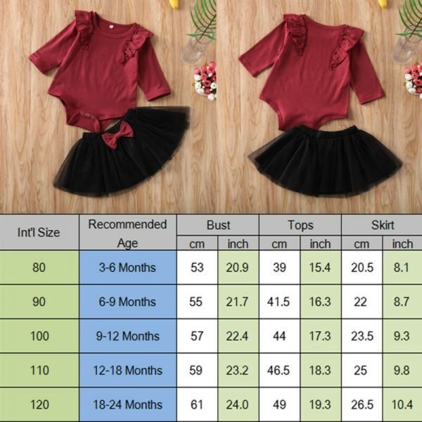 Baby-Set-Sweet-Toddler-Baby-Girl-Kid-Romper-Jumpsuit-Solid-Mesh-Skirt-Top-Cotton-Ruffles-Solid